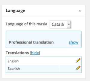Traduccions dels continguts amb WPML