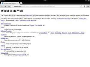 La primera pàgina de la web