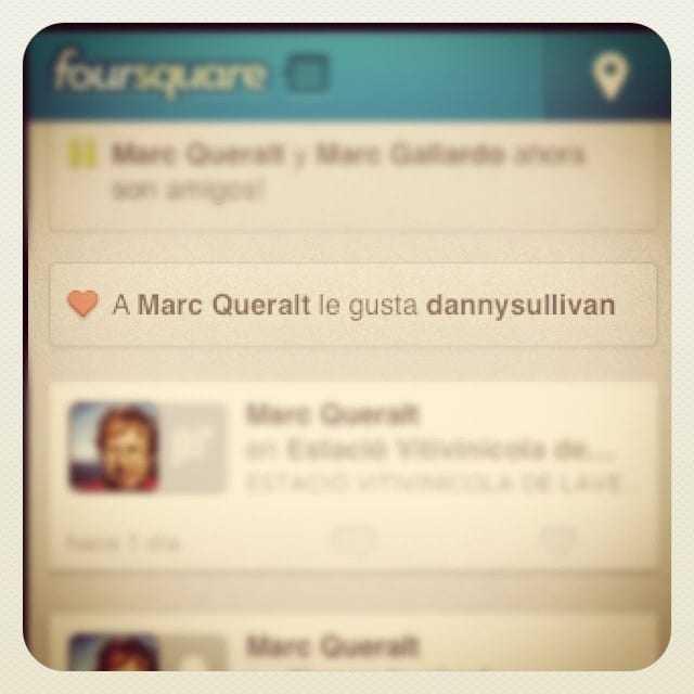 Senyor Foursquare: no estic enamorat d'en Danny Sullivan per més que vosté ho digui!