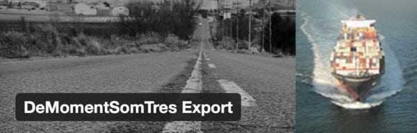 DeMomentSomTres Export Plugin