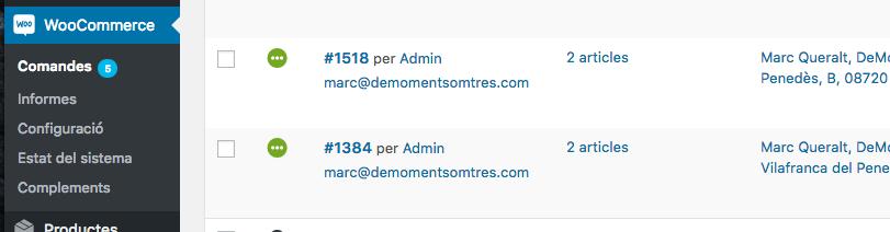 WooCommerce: reenviar el correu de comanda 1