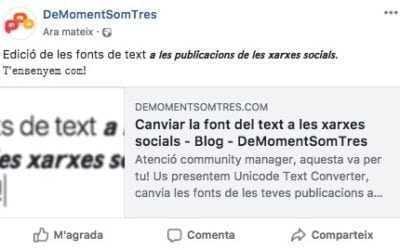 Cambiar la fuente del texto en las redes sociales