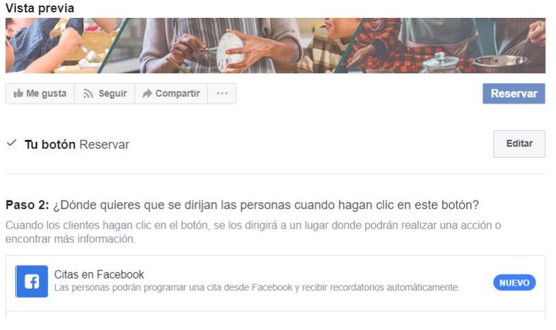 ¿Cómo configurar citas previas en mi página de Facebook? 3