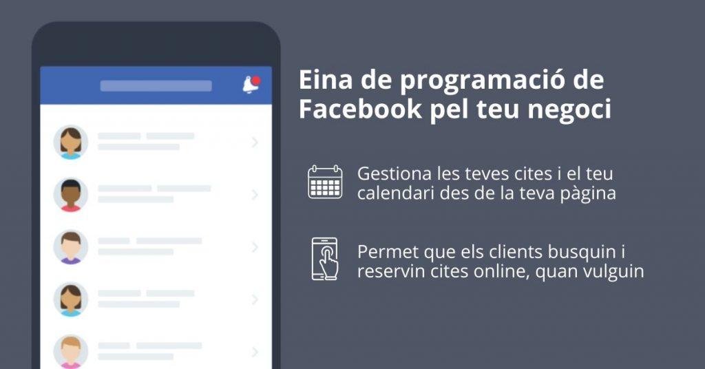 Programació cites prèvies a la pàgina de Facebook