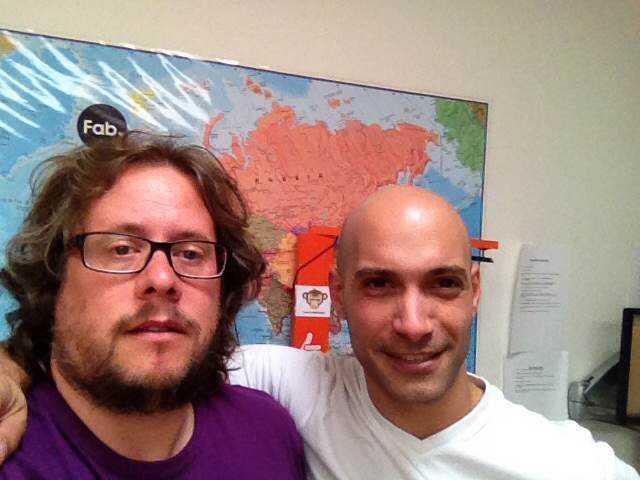 Selfie amb en Guillermo Montero a les oficines de Bongo International