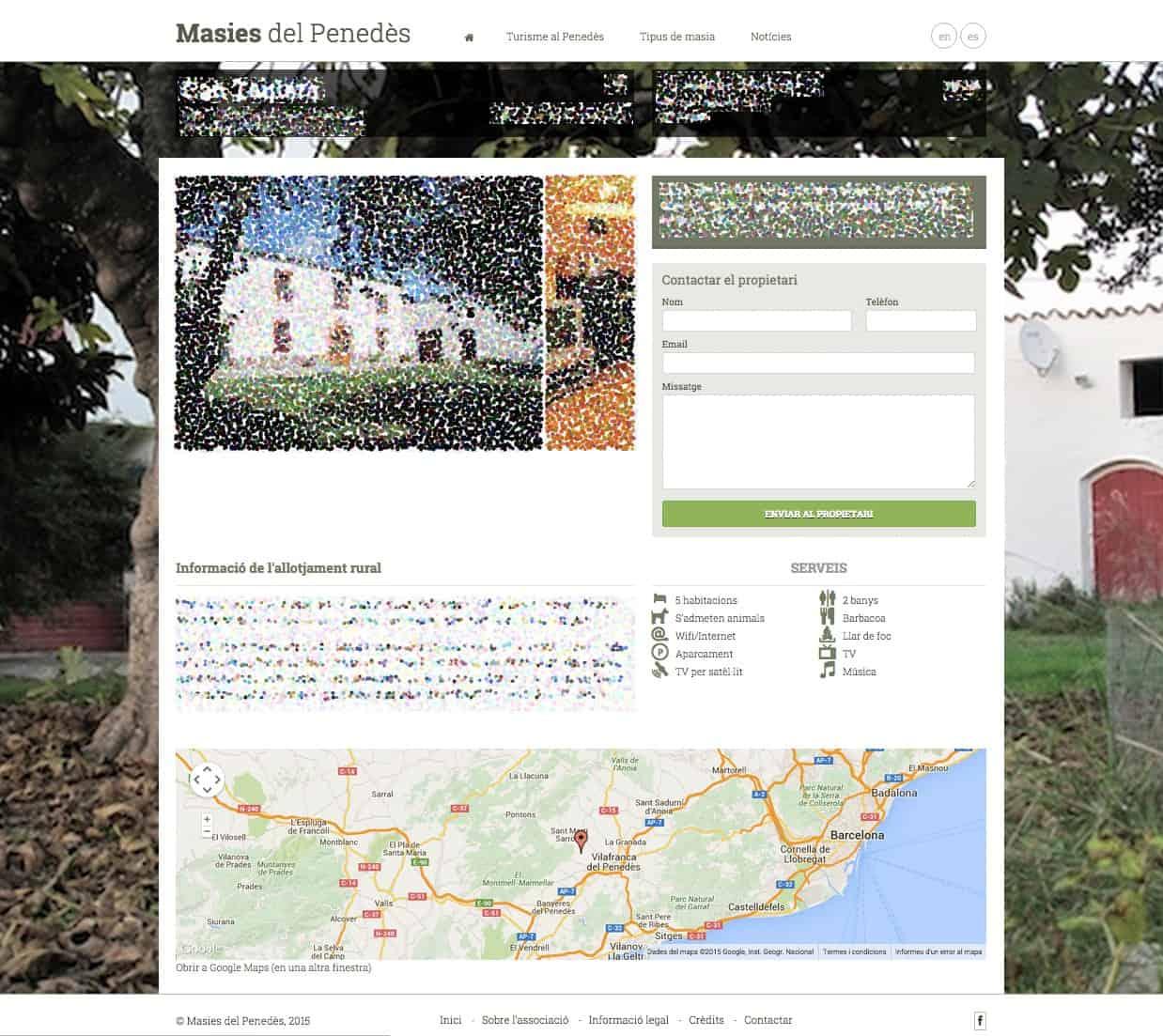 Editar la informació d'una masia