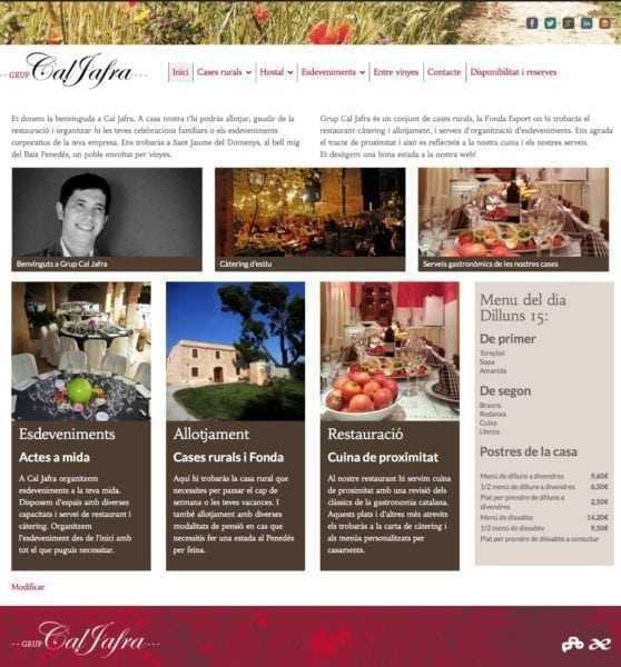 Inici de Cal Jafra en català
