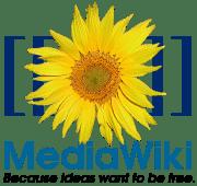 El logo de MediaWiki la solució de Wiki en codi obert que suporta la Wikipedia