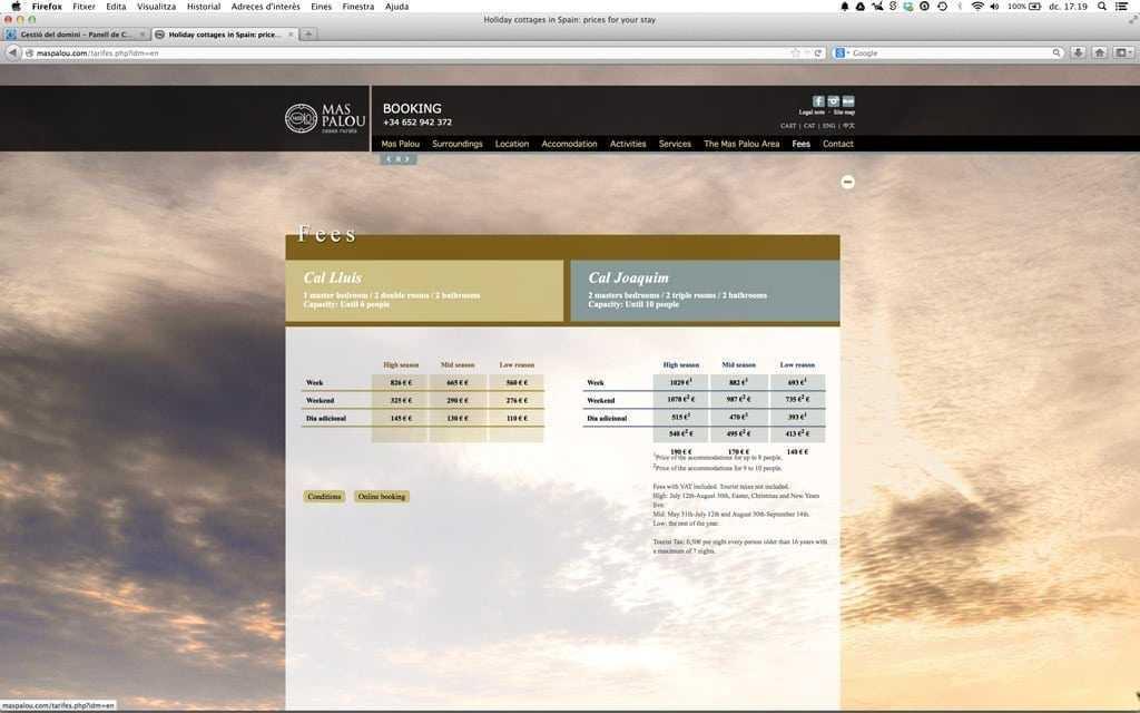 l'optimització web tindrá impacte significatiu sobre la pàgina de tarifes
