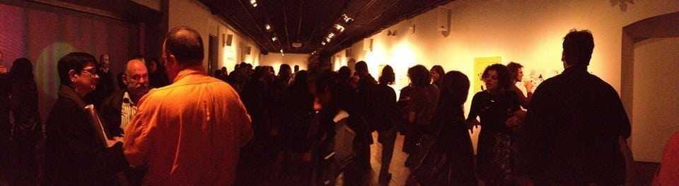 Imatge inauguració de Blanc sota negre a l'Arts Santa Mònica