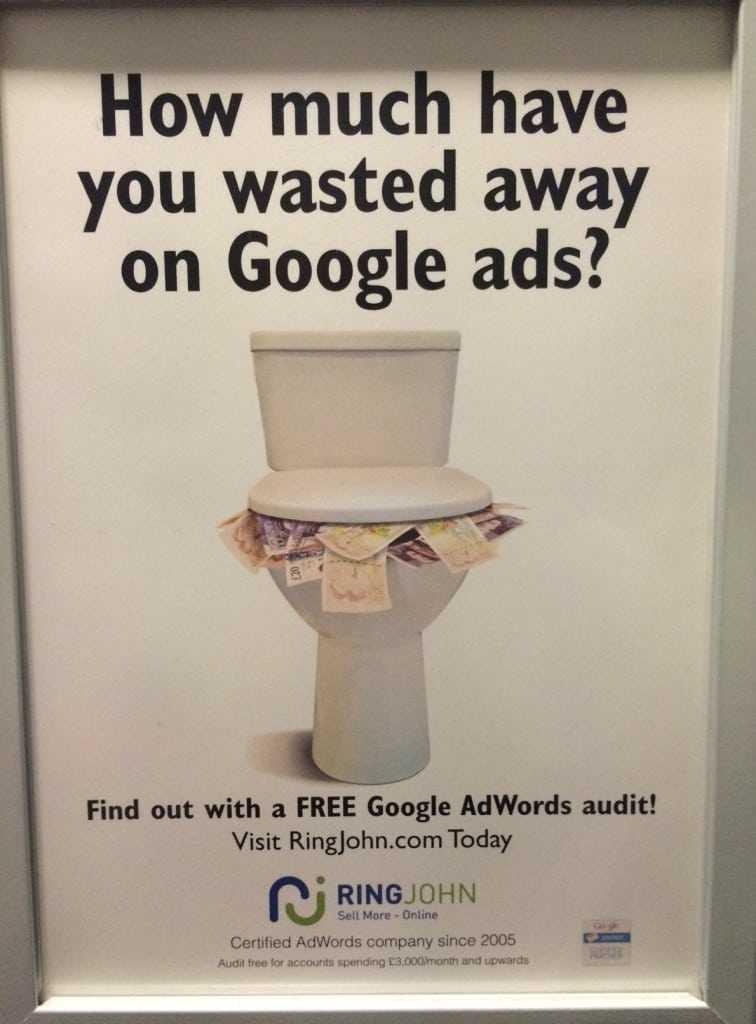 Màrqueting digital de lavabo: crida a l'acció 1