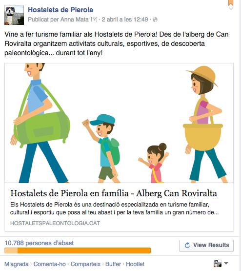 Campanya de Facebook Turisme en família