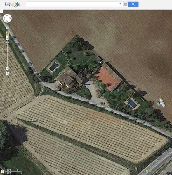 La visió a Google Maps de l'enllaç corresponent a les coordenades GPS indicades
