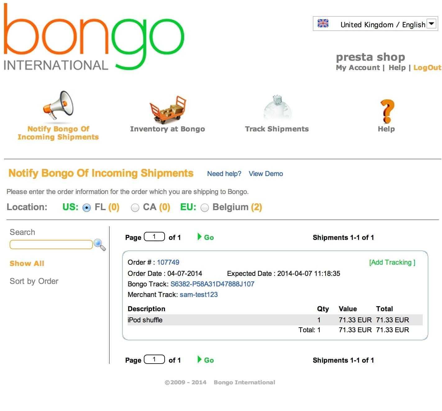 dms3-bongo-checkout-prestashop-tracking-result