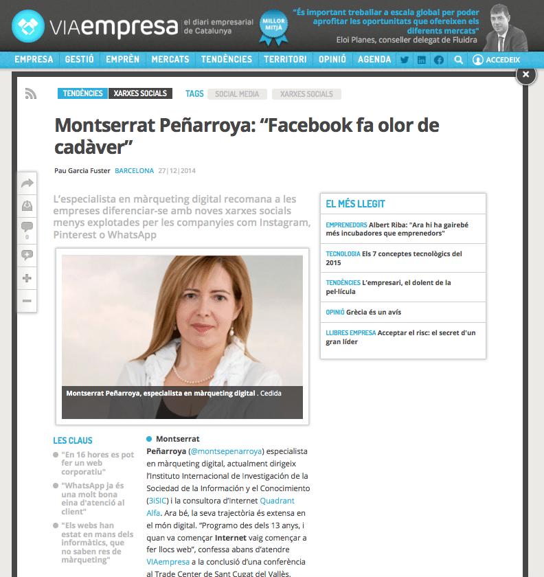 Facebook, whatsapp i altres canals de màrqueting digital