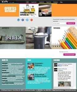 Web de Gràfiques Kerpe, base de l'estratègia de marketing digital