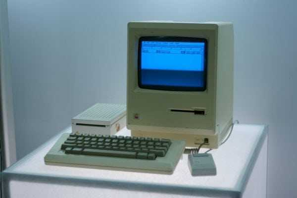 Un dels primers Apple Macintosh