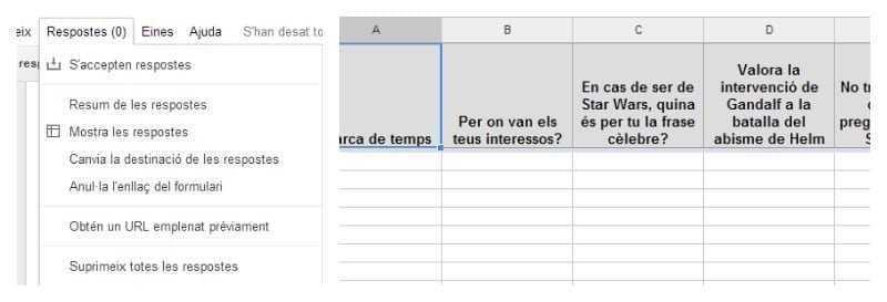 Visionat de respostes de l'enquesta
