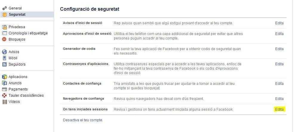 Seguretat de Facebook