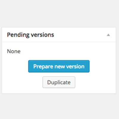 WordPress Prepare New Version preparar una nova versió